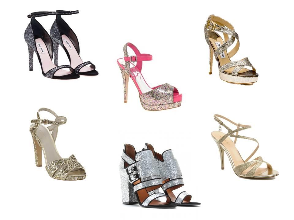 Zara Glitter Platform Sandals 14