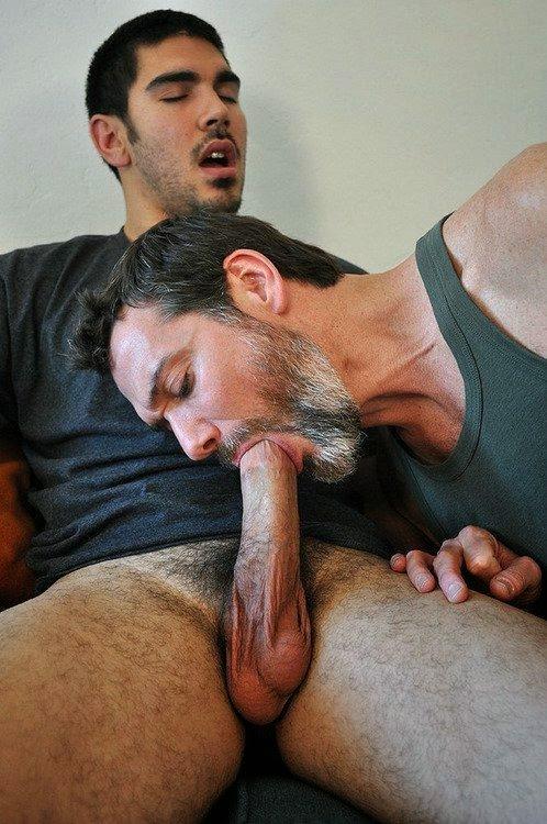 Dad erotic fellatio gay older son
