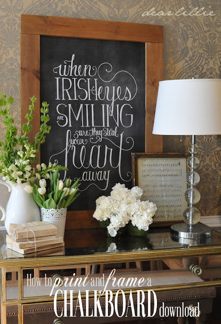 dear lillie how to download print and frame a chalkboard