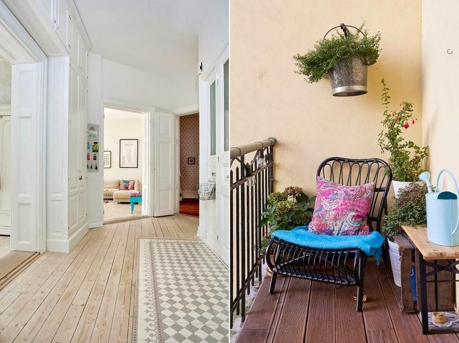 wystrój wnętrz, wnętrza, urządzanie mieszkania, dom, home decor, dekoracje, aranżacje, białe wnętrza, styl skandynawski, przedpokój, balkon