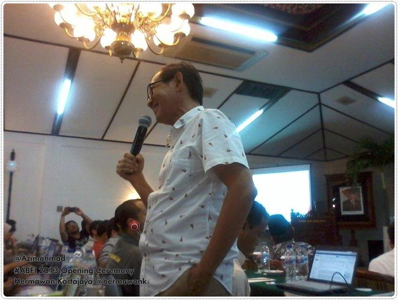 Hermawan Kartajaya, Markplus, ABFI 2013