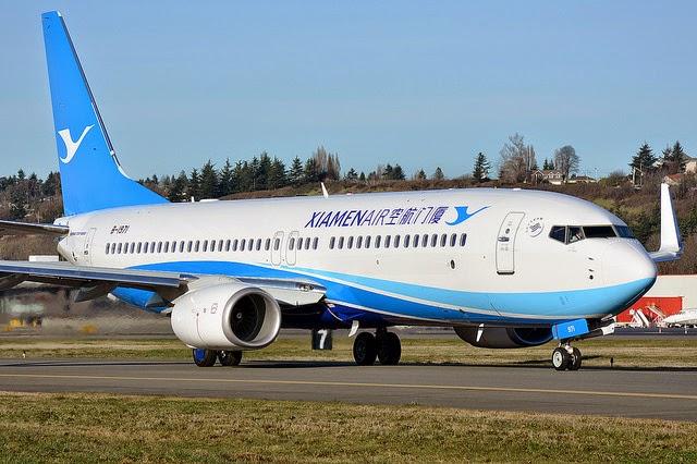 xiamen air 737 800
