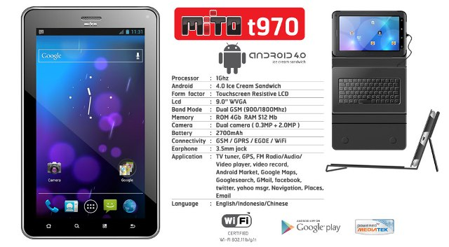 Harga Dan Spesifikasi Tablet Mito T970