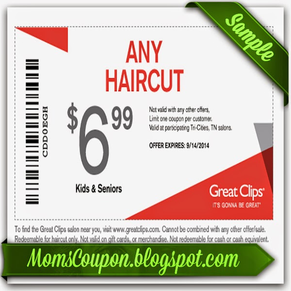 Discount haircut coupons