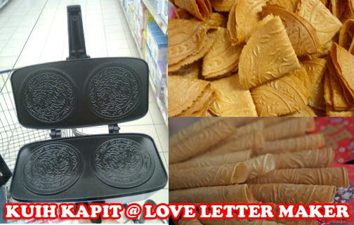 ... DeLighT :.: Kuih Kapit/Love Letter Maker, waffle maker, donut maker