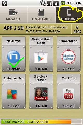 Force Move The Apps from Phone to SD