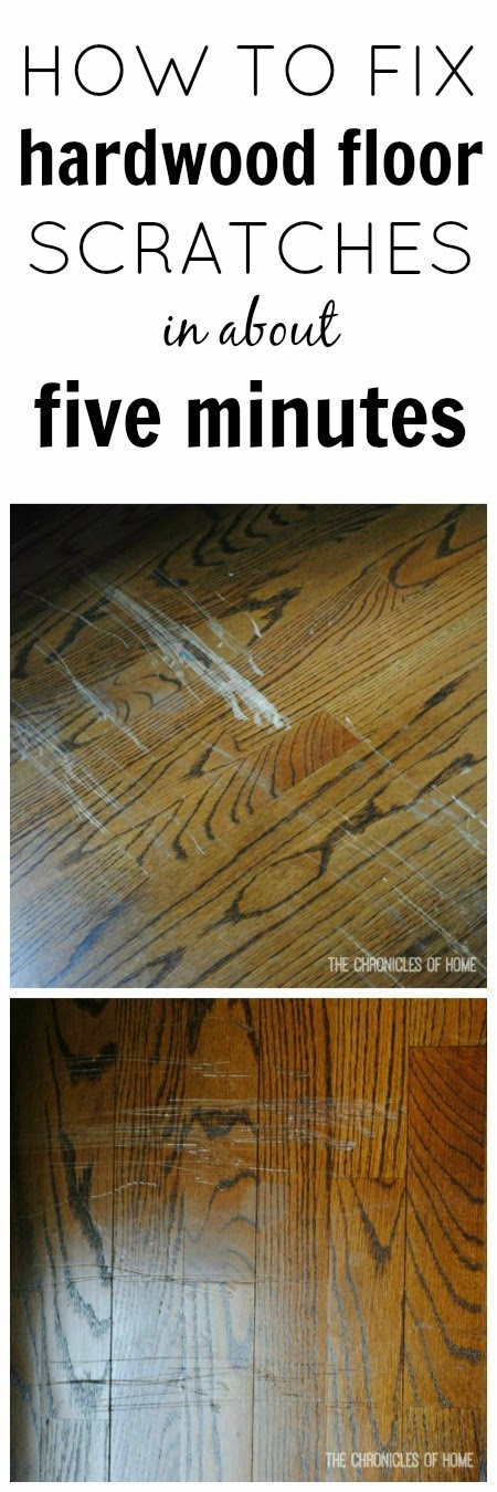 Easy fix for scratched hardwood floors for Hardwood floors repair