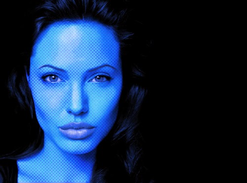 Photoshop Tutorial : Blue Halftone Skin Effect Photo Manipulation