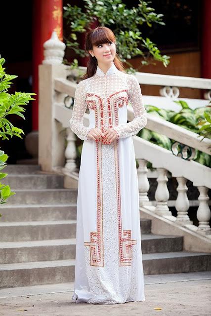 chọn màu sắc áo dài cưới phù hợp với cô dâu