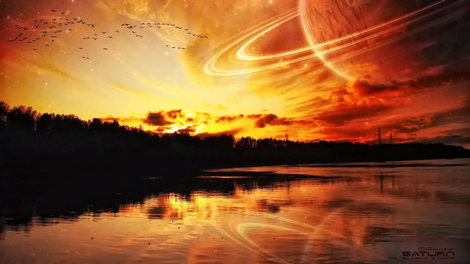 Close Planet Saturn