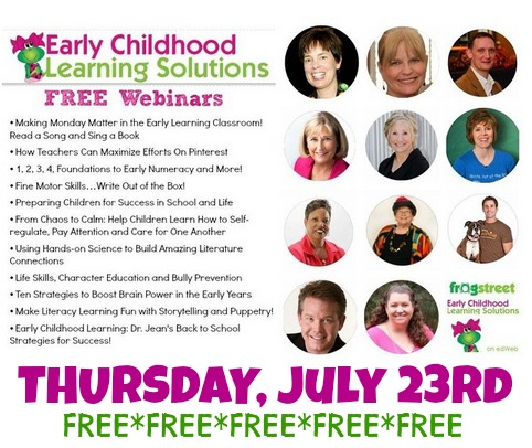 """FREE Webinar """"Making Monday Matter!"""" with Debbie Clement, Fusing the Arts and Early Literacy. Earn continuing education credit for participation"""