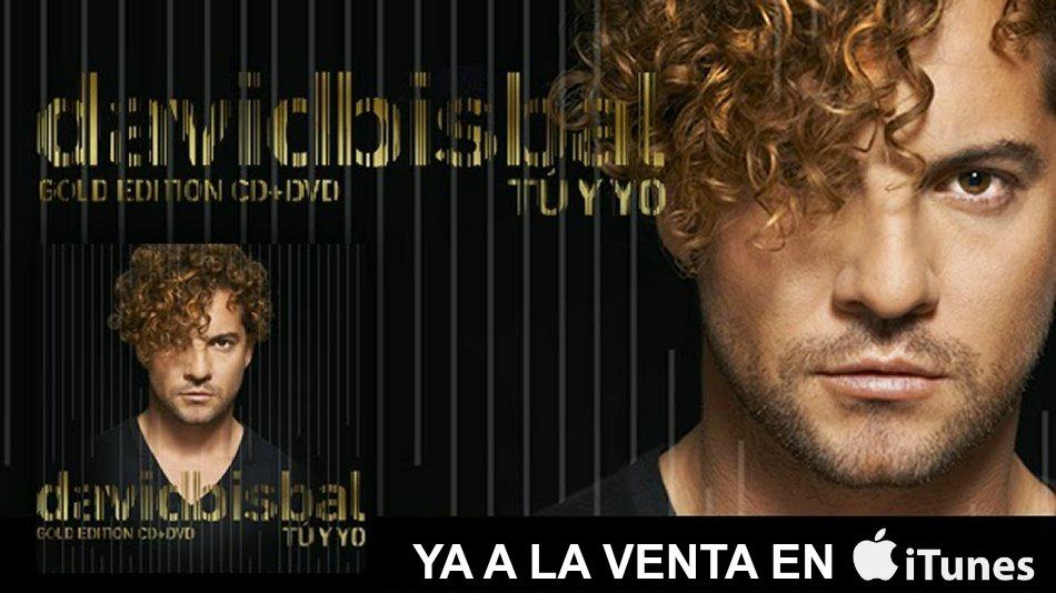 David Bisbal Tu y Yo Gold Edition, YA a la venta