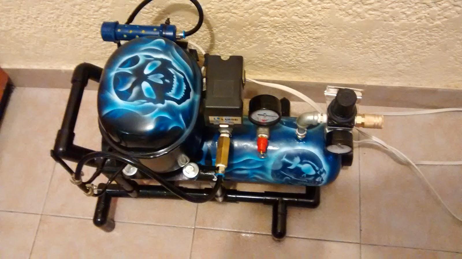 Galeria arte y dise o madekids mini compresor for Compresor de aire silencioso