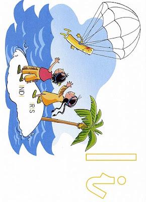 Desenho de ilha colorida