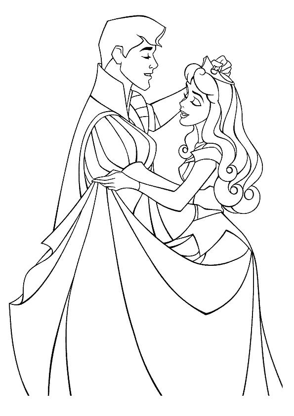 p is for princess coloring pages - photo #7