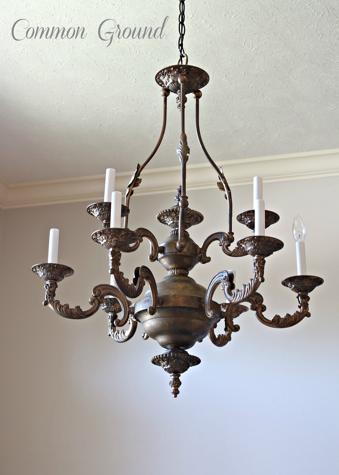 Awesome mon ground Faux Painted Chandelier