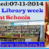 Rc No 2040 Child Rights and Library week Celebrations at Schools