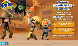 Two ways to enter Fanta Halloween Sweepstakes at MyCokeRewards