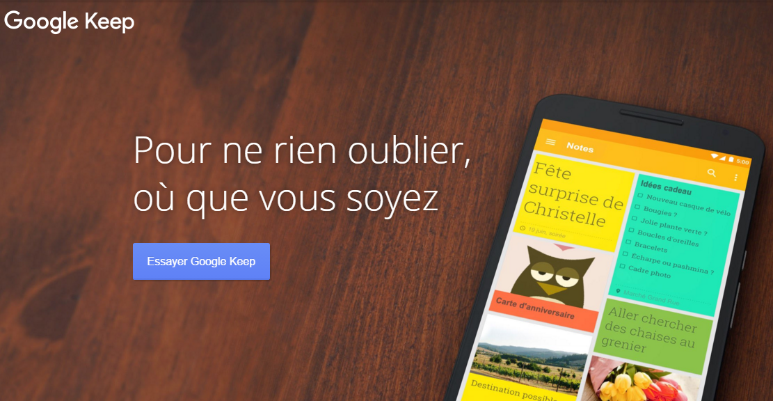 Google Keep Notes facilite la personnalisation des images
