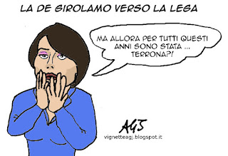 De Girolamo, Lega, satira vignetta