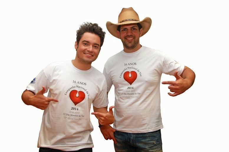Fernando e Sorocaba apoiam Campanha Nacional da Voz