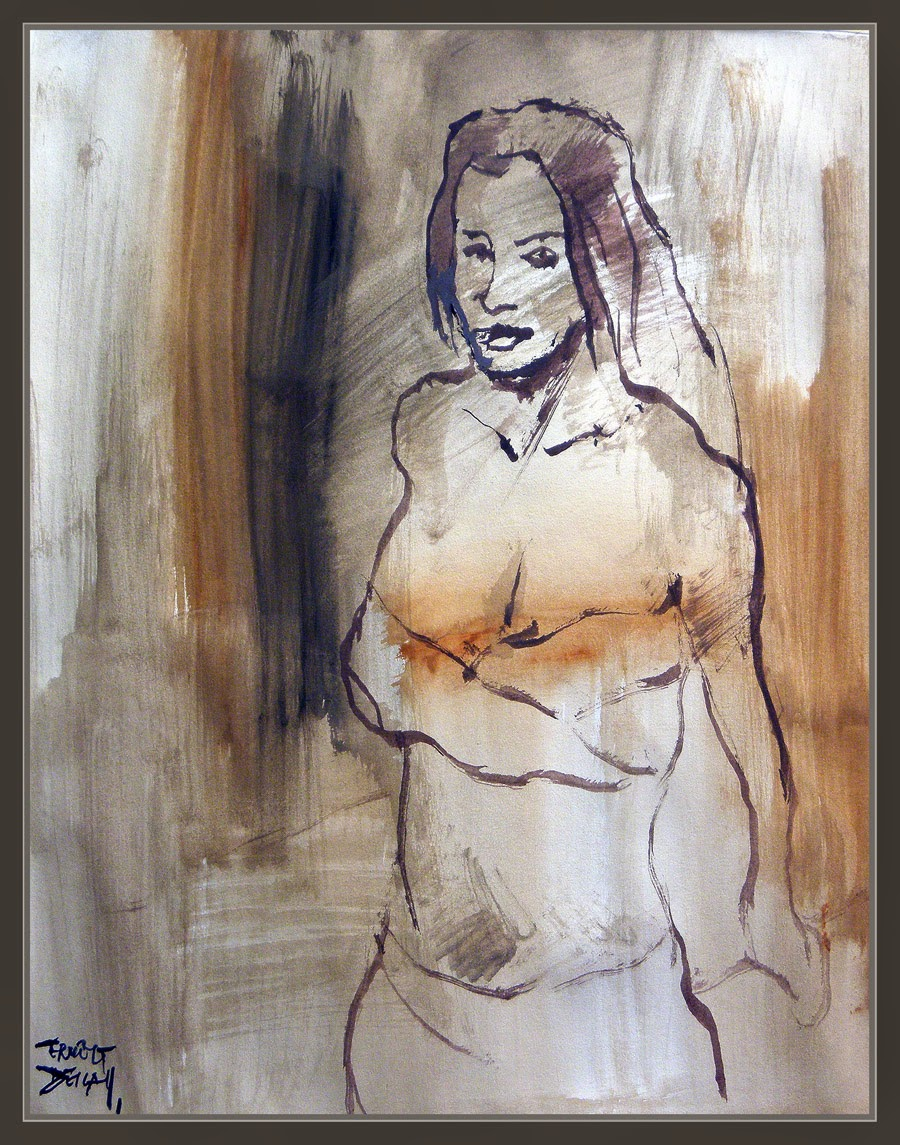 PINTURA-MUJERES-MUJER-WOMEN-ARTWORK-READHEAD-PELIRROJAS-ARTE-MODELOS-ARTISTA-PINTOR-ERNEST DESCALS