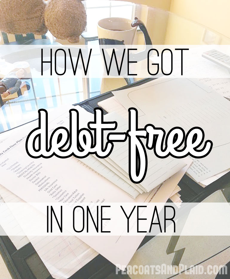How we got debt-free in one year and how you can, too.
