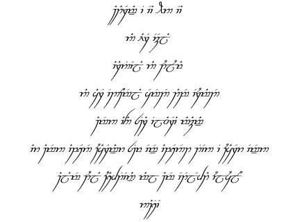 escritura tengwar: