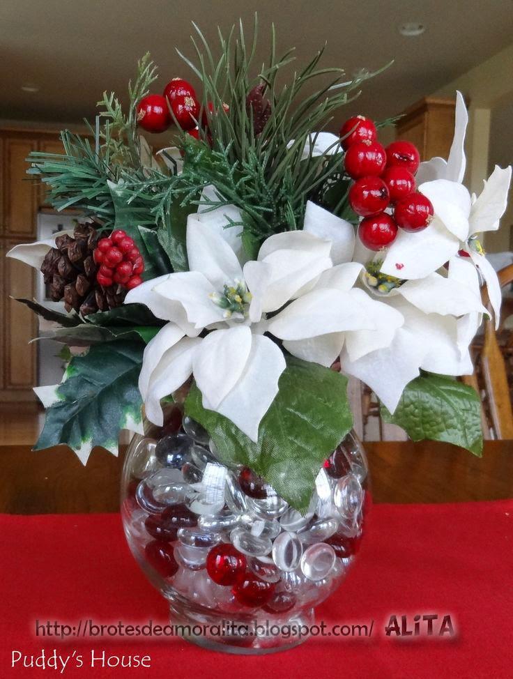 Hermosa Centros Florales De Navidad Vieta Ideas de Decoracin de