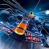 F1 Red Bull a 6.100 metros de altura en la India.