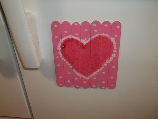 Craft Stick Valentine Magnet Puzzle
