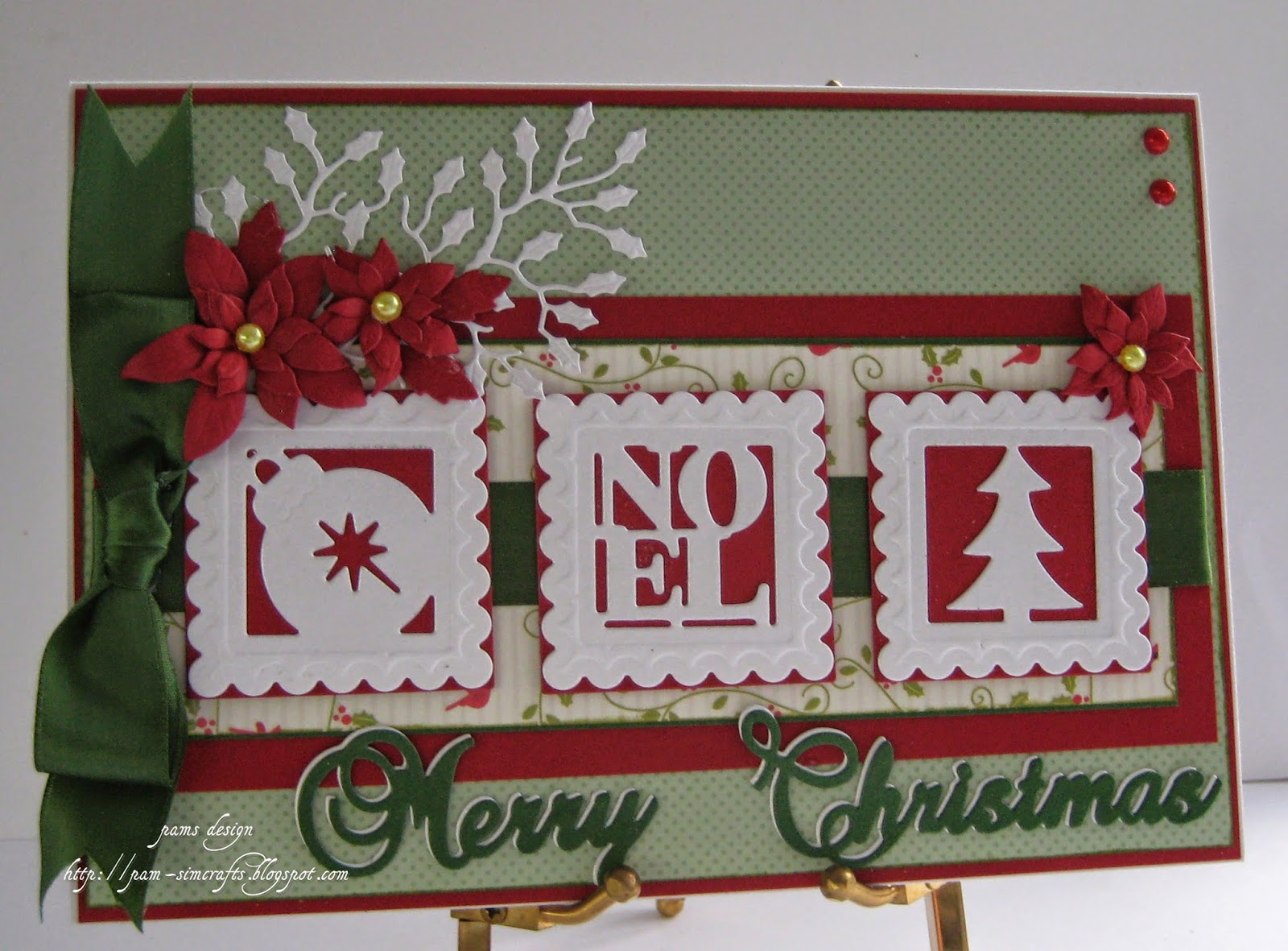 pamscrafts: Traditional Christmas card..