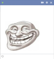 Troll Face Facebook Emoticon