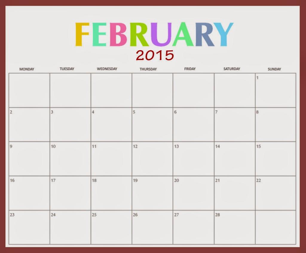 cute february calendar 2015 cute february calendar 2015 cute february ...