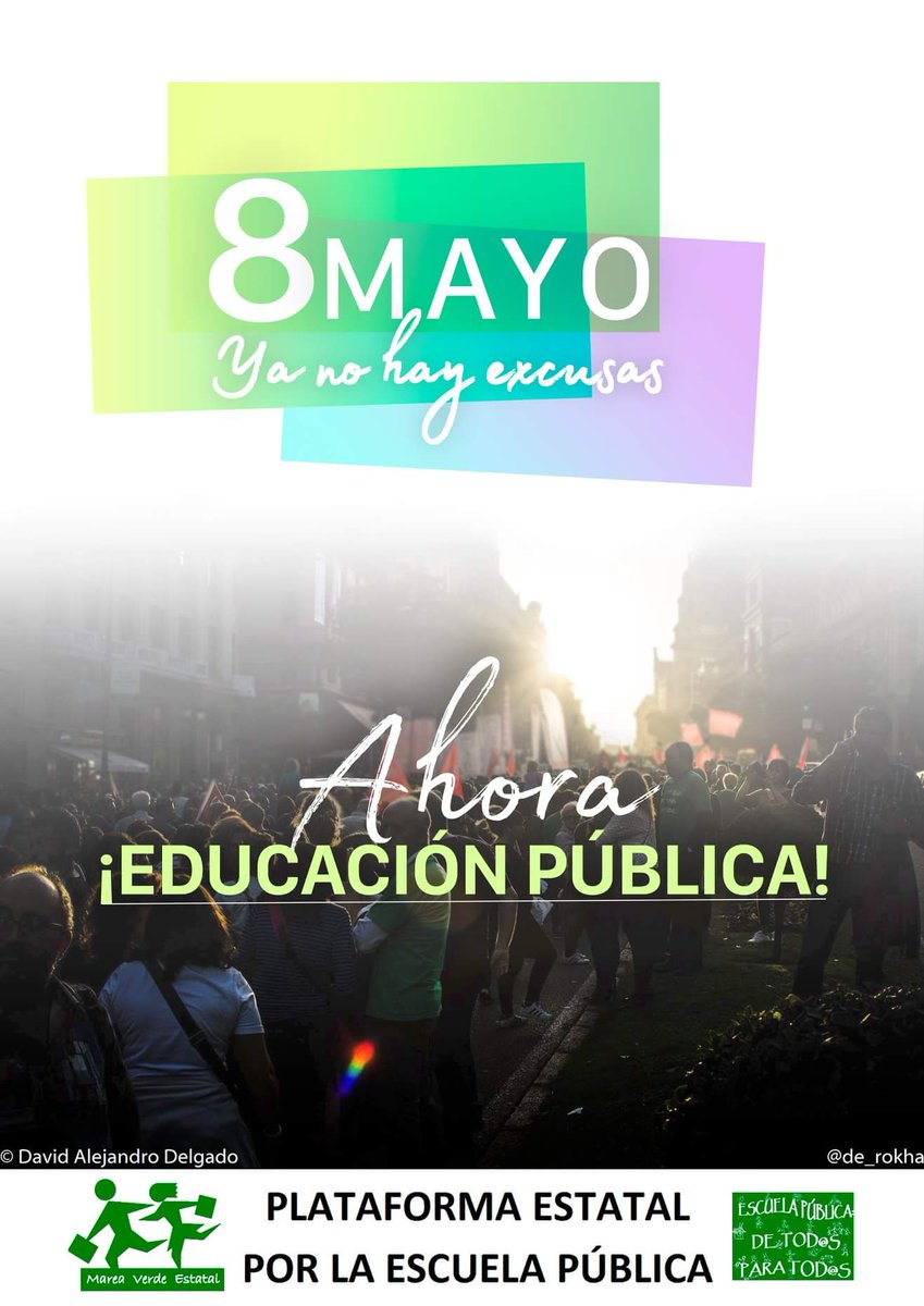 8 mayo Enseñanza Pública y de Calidad