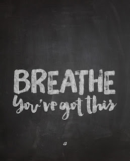 LostBumblebee ©2016 MDBN : BREATHE, You've Got This! : Donate to Download : Personal Use ONLY. Chalkboard Print, 8x10