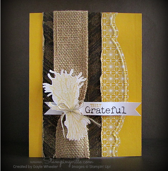 Truly Grateful Autumn Card  #cardmaking #papercrafts #StampinUp #Stampingville