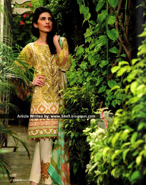 Crescent Eid Lawn Prints 2015 | Stylish Eid Lawn Dresses
