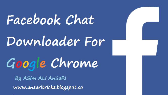 Facebook Chat Downloader Free Download