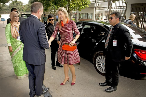 Queen Maxima's Visit To Bangladesh, Day 1