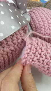 coser patas al amigurumi osito tejido de punto