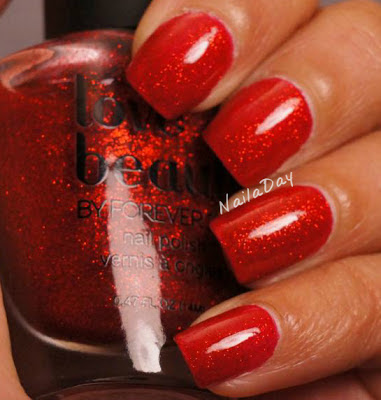 NailaDay: Love and Beauty Red Glitter