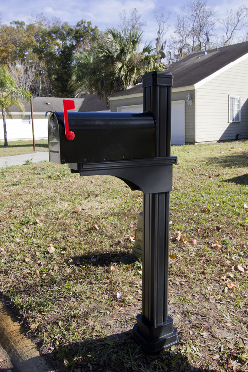 Pin Mailbox Post Design Plans on Pinterest