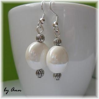 kolczyki z porcelany biały