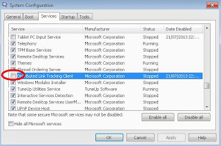 mematikan service windows