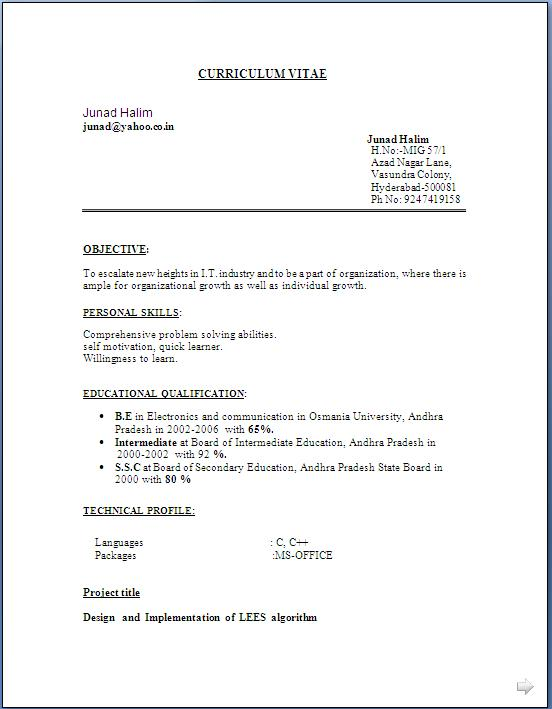 best executive resumes free download