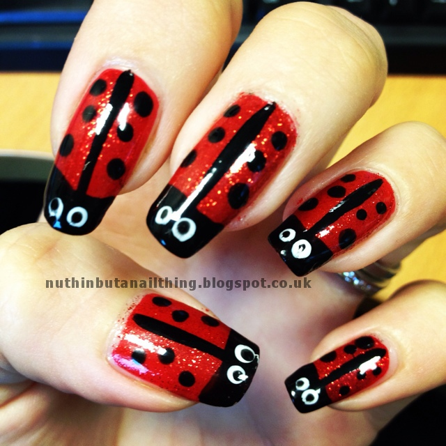 How To Ladybird Ladybug Nail Art Tutorial Step By Step Easy Blog Post