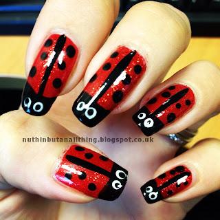 ladybird ladybug nails