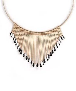 statement necklaces, street shopping, spiked necklace, golden spiked necklace, bandra street shopping, thrifty shopping, indian street shopping guide