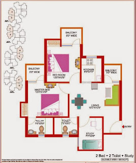 Amrapali River View :: Floor Plan